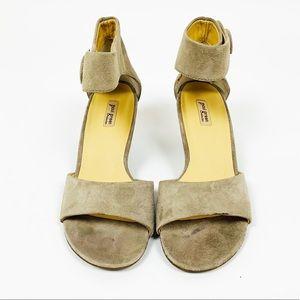Paul Green UK 3/US 5.5 Maya Ankle Strap Suede Heel